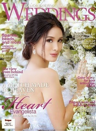 Asian Dragons Wedding issue with Heart Evangelista on its cover.
